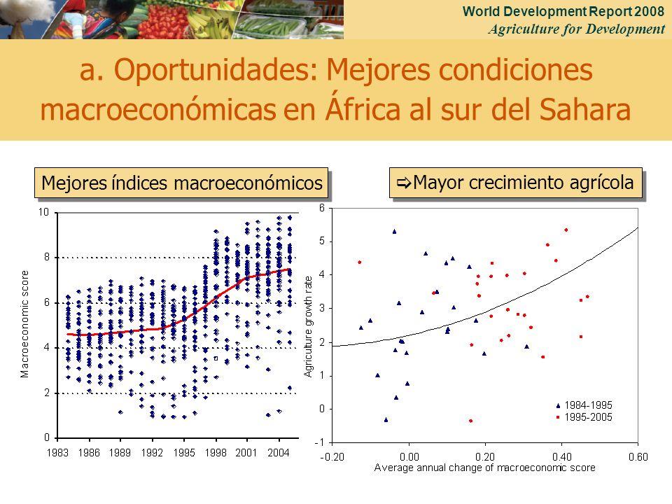 a. Oportunidades: Mejores condiciones macroeconómicas en África al sur del Sahara