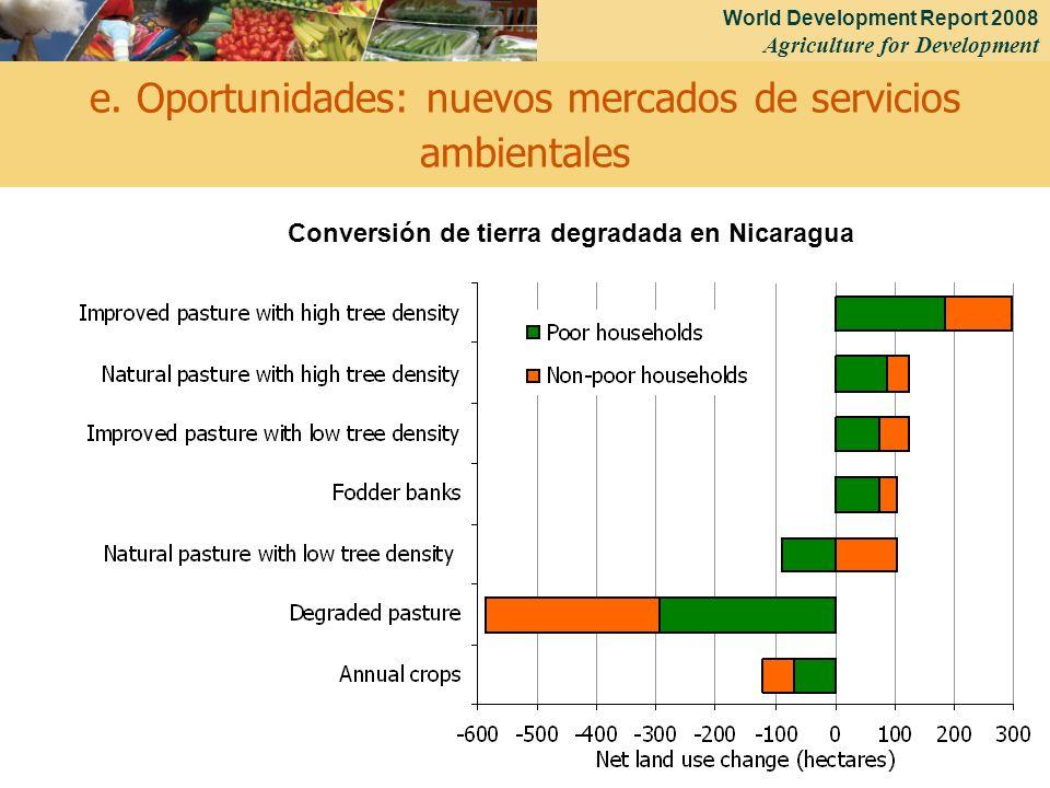 e. Oportunidades: nuevos mercados de servicios ambientales