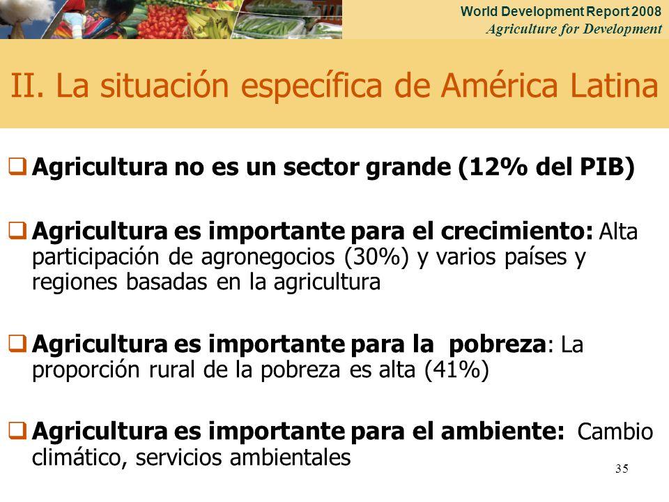 II. La situación específica de América Latina