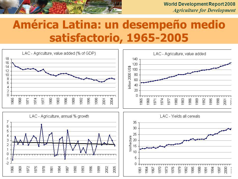 América Latina: un desempeño medio satisfactorio, 1965-2005