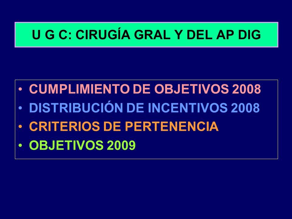 U G C: CIRUGÍA GRAL Y DEL AP DIG