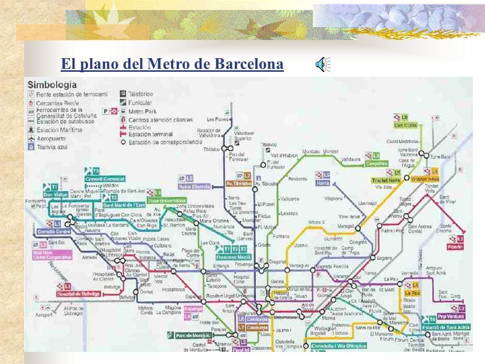 El plano del Metro de Barcelona