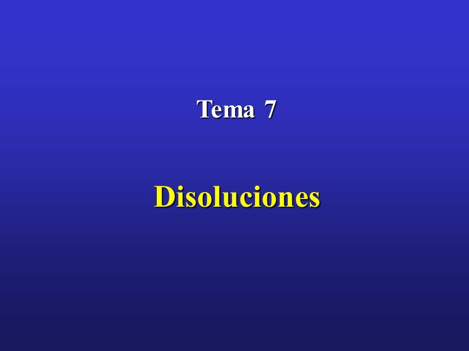 Tema 7 Disoluciones