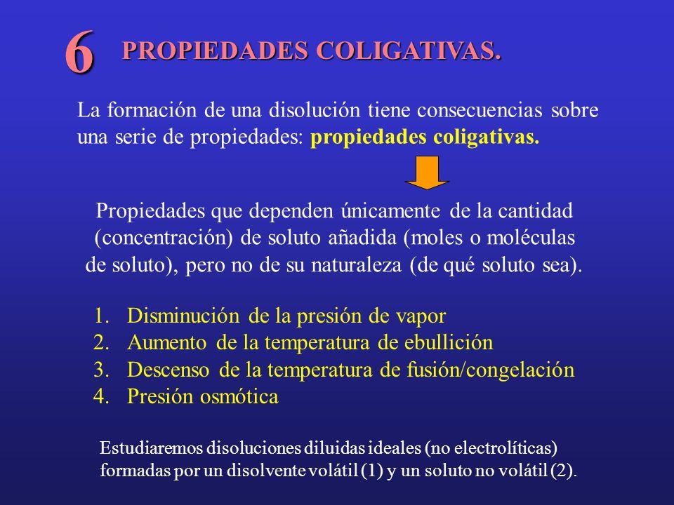6 PROPIEDADES COLIGATIVAS.