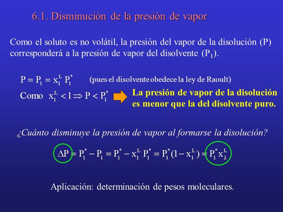 6.1. Disminución de la presión de vapor