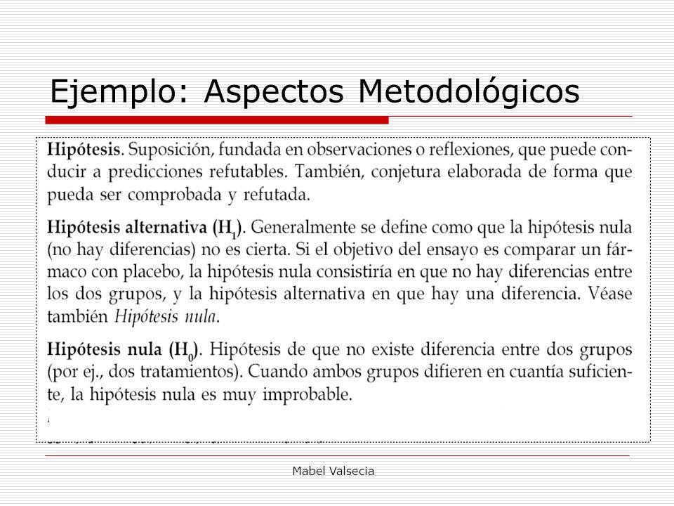 Ejemplo: Aspectos Metodológicos