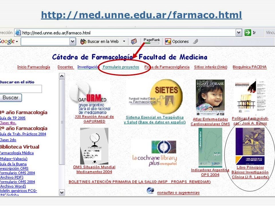 http://med.unne.edu.ar/farmaco.html Mabel Valsecia