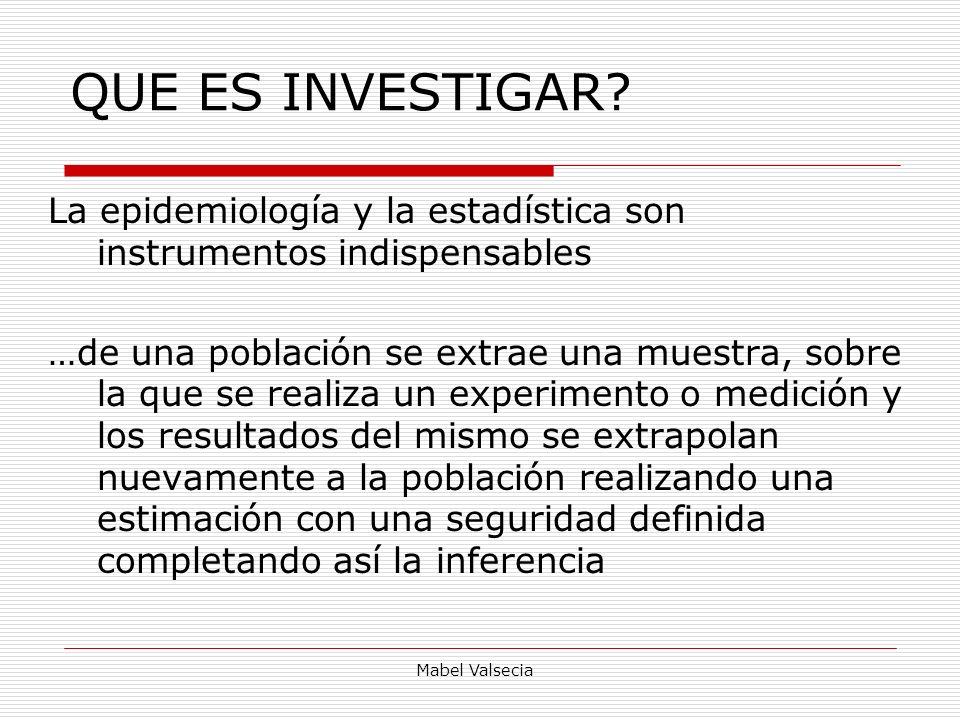 QUE ES INVESTIGAR La epidemiología y la estadística son instrumentos indispensables.