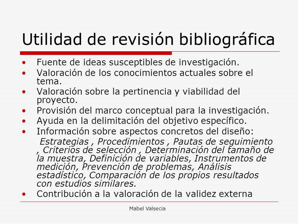 Utilidad de revisión bibliográfica