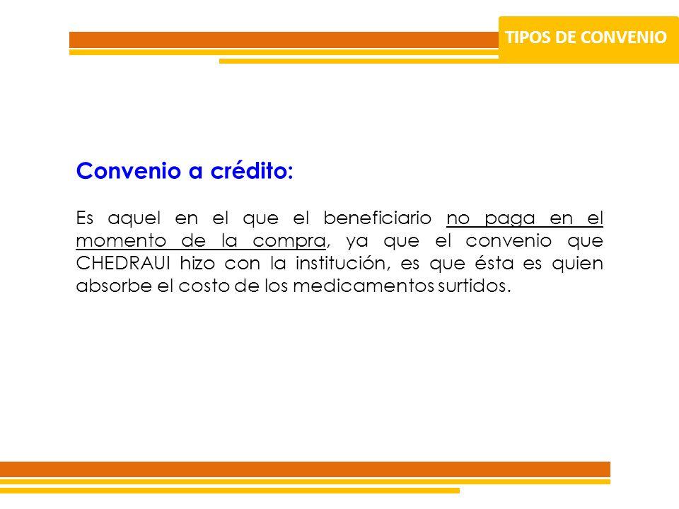 Convenio a crédito: TIPOS DE CONVENIO