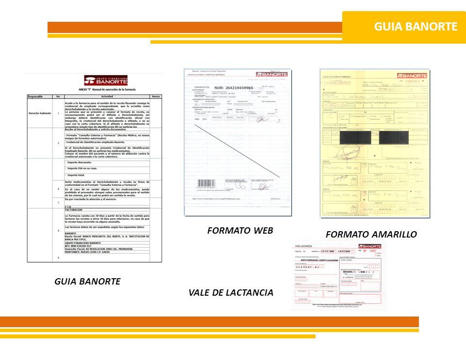GUIA BANORTE FORMATO WEB FORMATO AMARILLO GUIA BANORTE