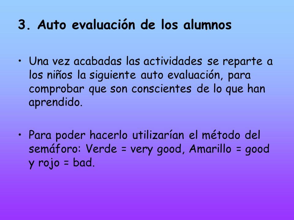 3. Auto evaluación de los alumnos