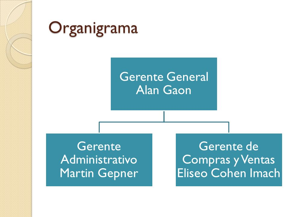 Organigrama Gerente General Alan Gaon