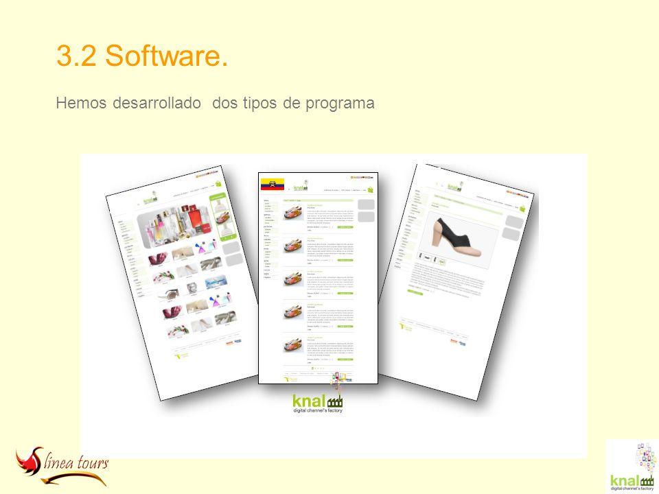 3.2 Software. Hemos desarrollado dos tipos de programa