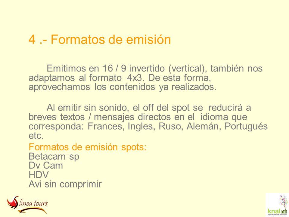 4 .- Formatos de emisión