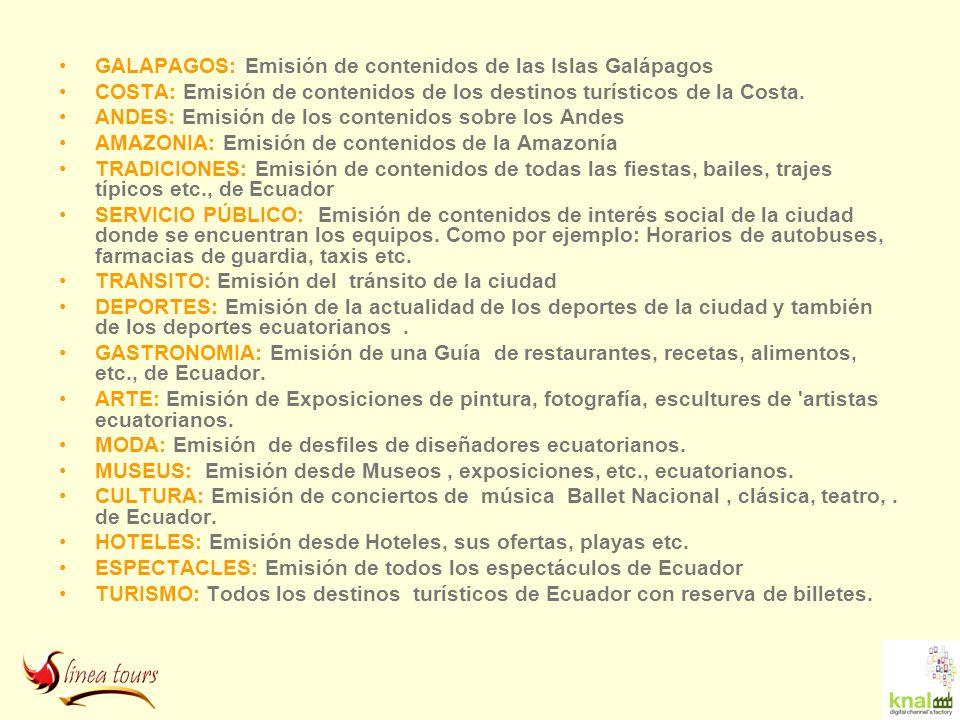 GALAPAGOS: Emisión de contenidos de las Islas Galápagos