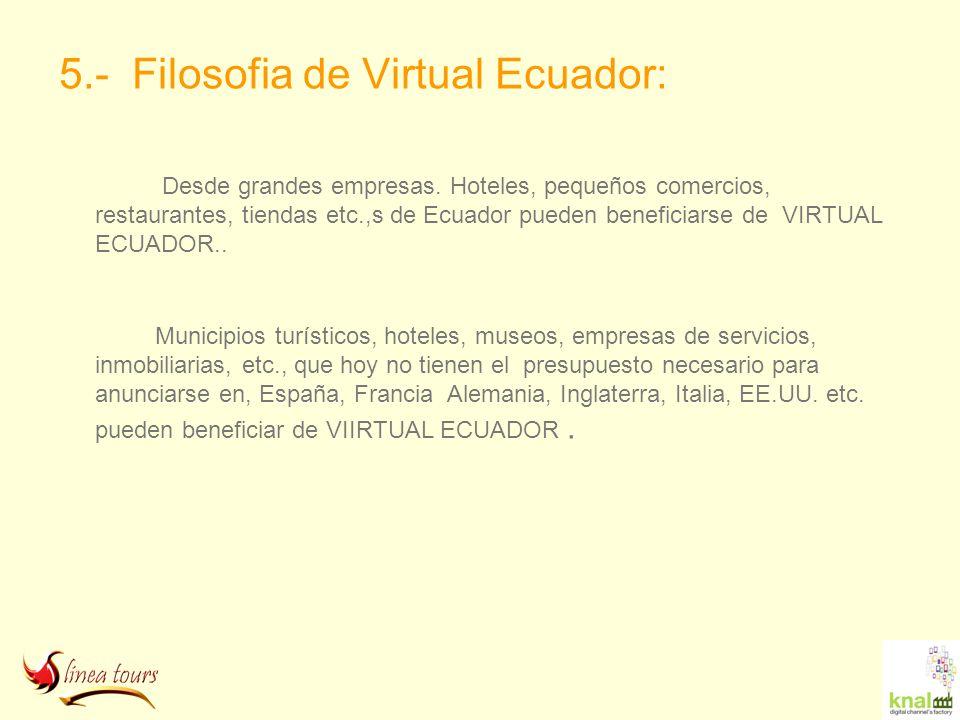 5.- Filosofia de Virtual Ecuador: