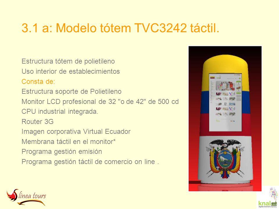 3.1 a: Modelo tótem TVC3242 táctil.