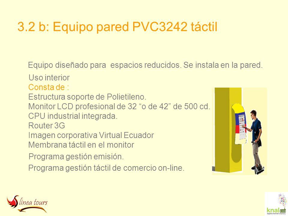 3.2 b: Equipo pared PVC3242 táctil
