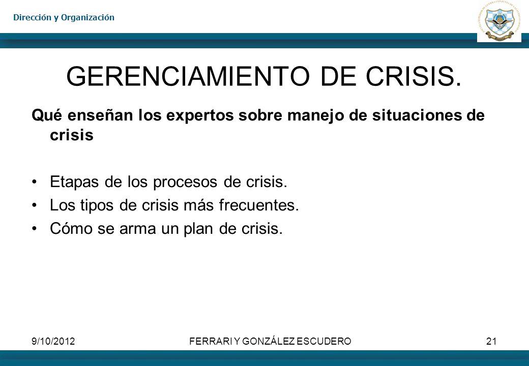 GERENCIAMIENTO DE CRISIS.