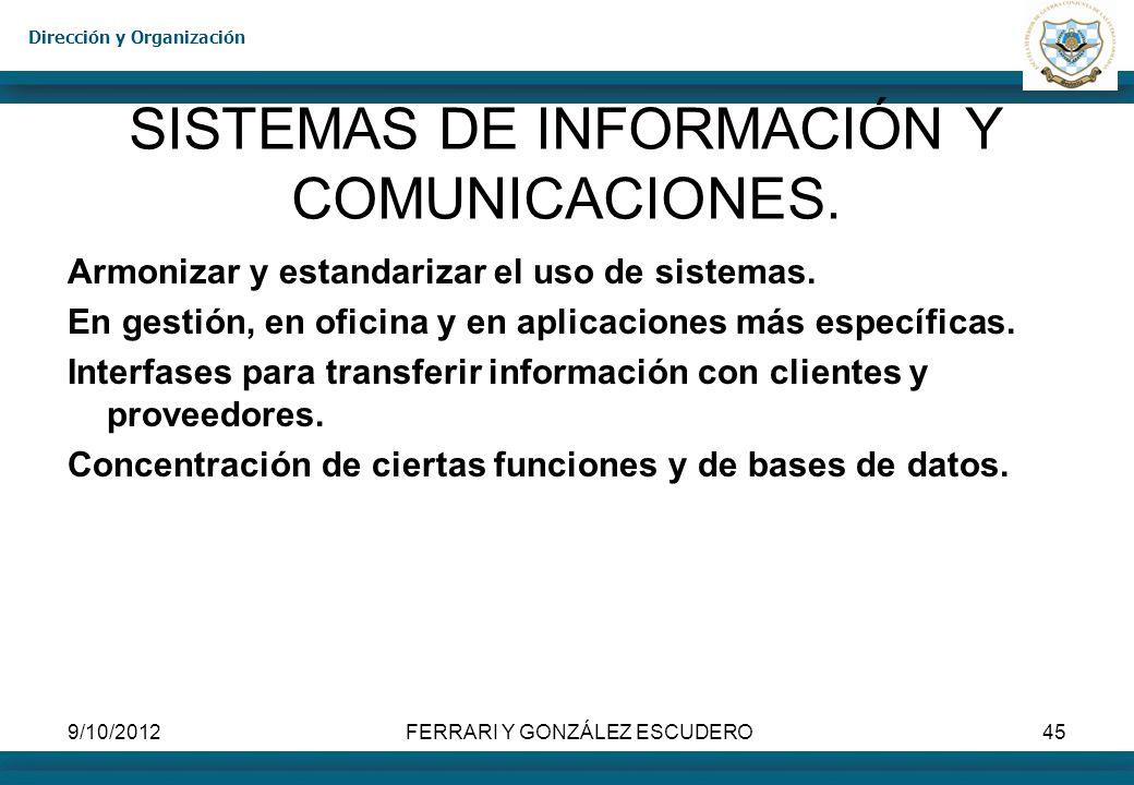 SISTEMAS DE INFORMACIÓN Y COMUNICACIONES.