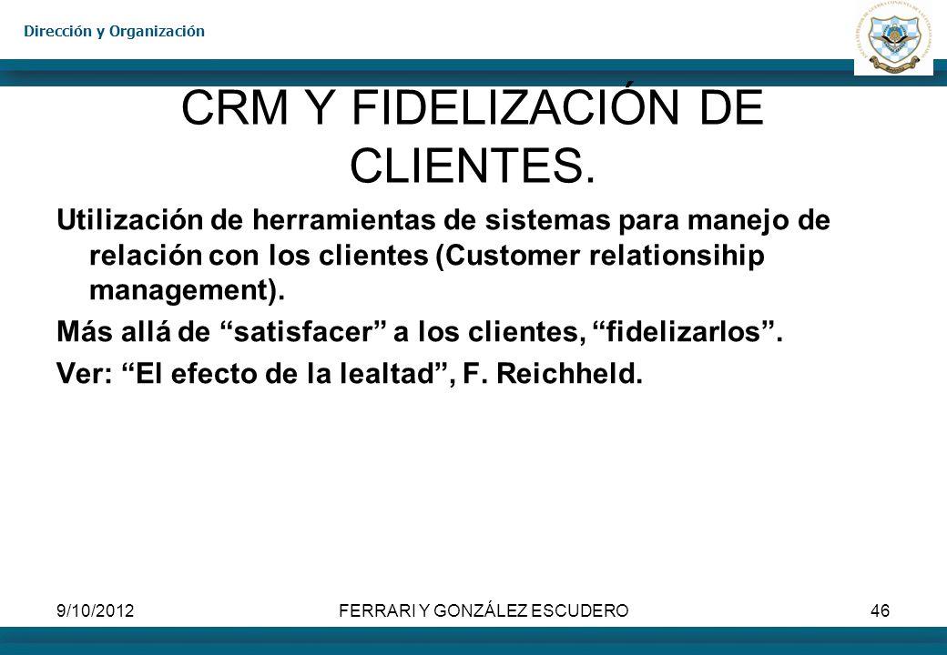 CRM Y FIDELIZACIÓN DE CLIENTES.