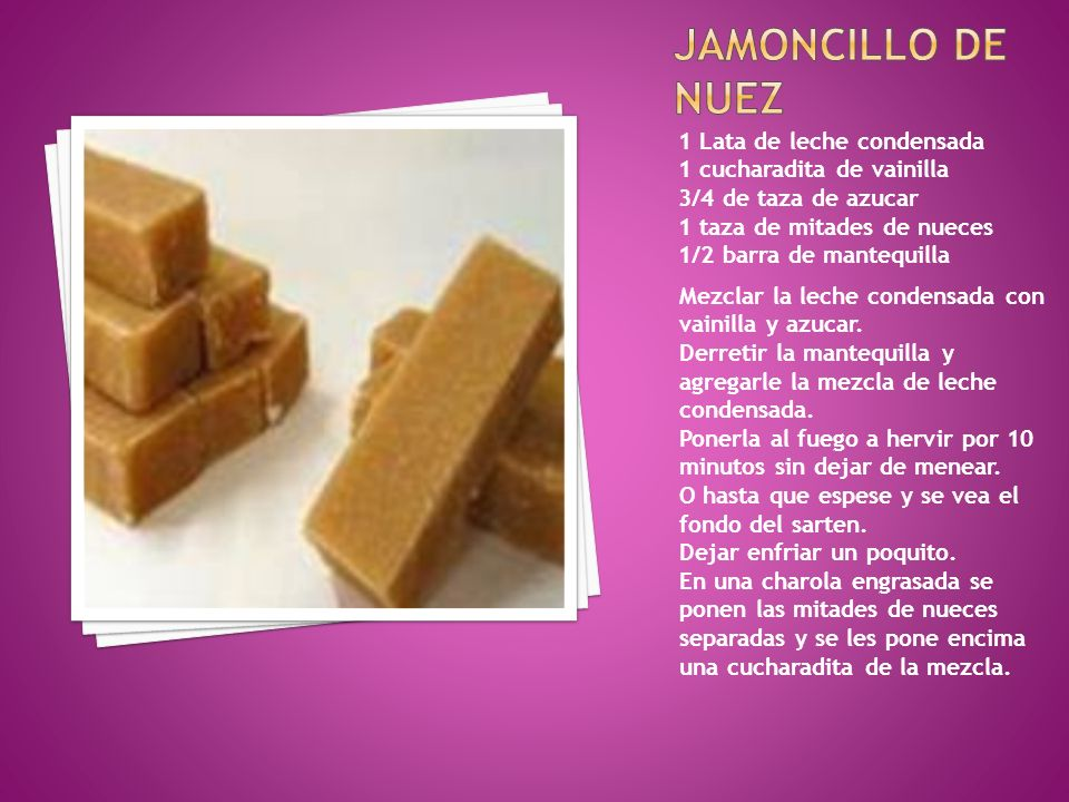 jamoncillo DE NUEZ 1 Lata de leche condensada
