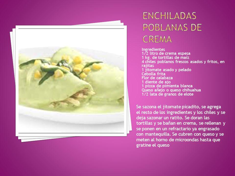 Enchiladas poblanas de crema