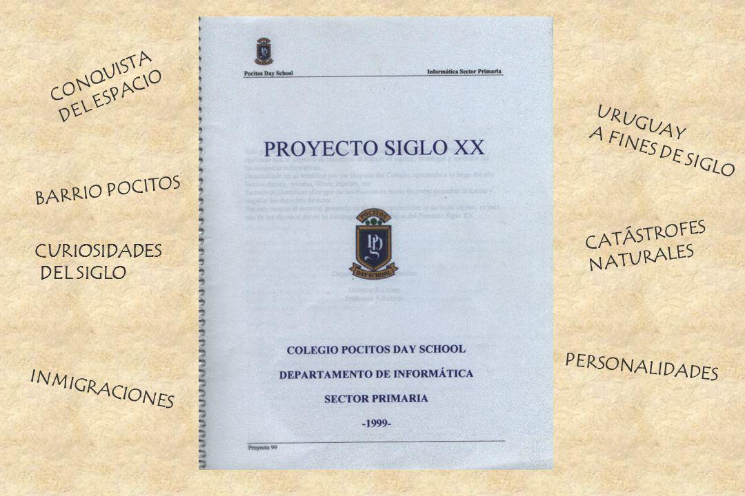 CONQUISTA DEL ESPACIO. URUGUAY. A FINES DE SIGLO. BARRIO POCITOS. CATÁSTROFES. NATURALES. CURIOSIDADES.