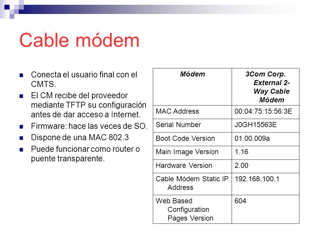 3Com Corp. External 2-Way Cable Módem