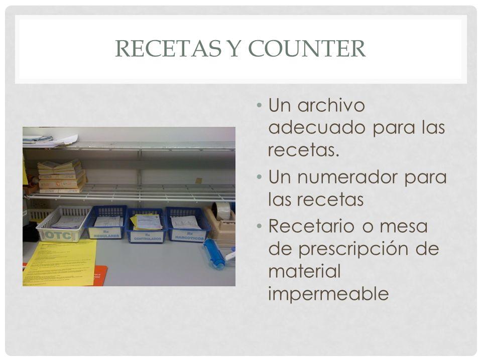 Recetas y counter Un archivo adecuado para las recetas.