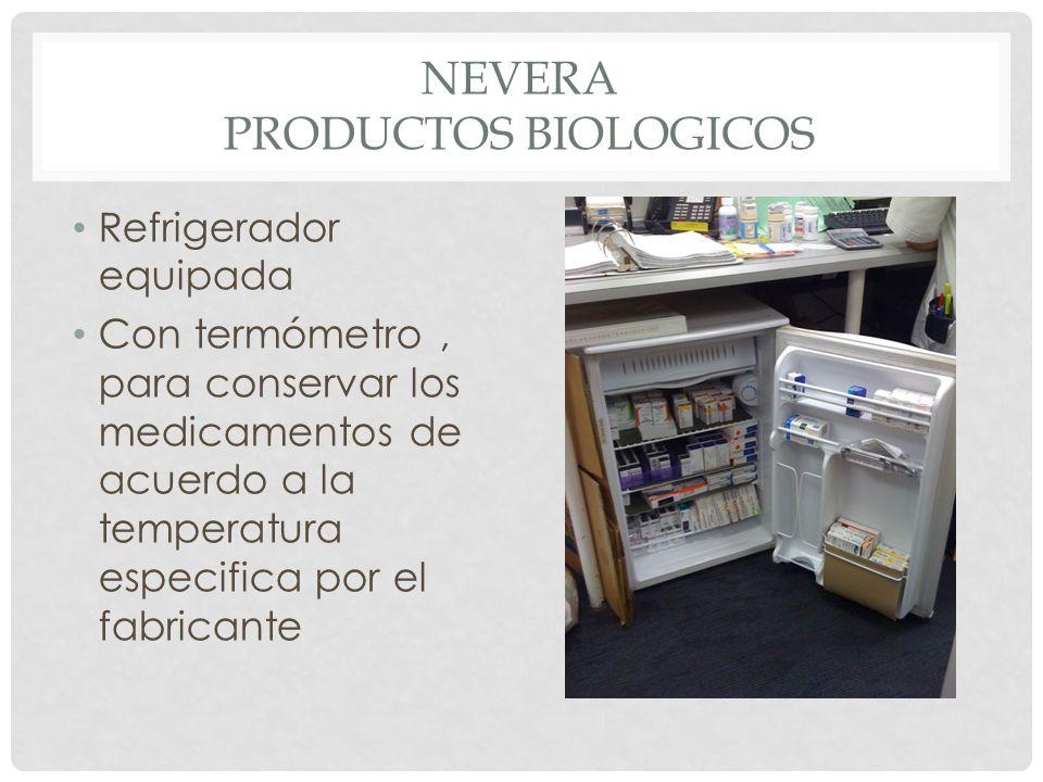 NEVERA Productos biologicos