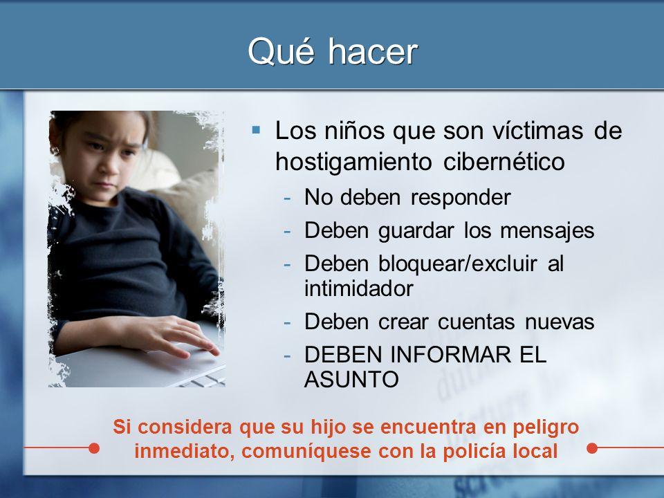 Qué hacer Los niños que son víctimas de hostigamiento cibernético
