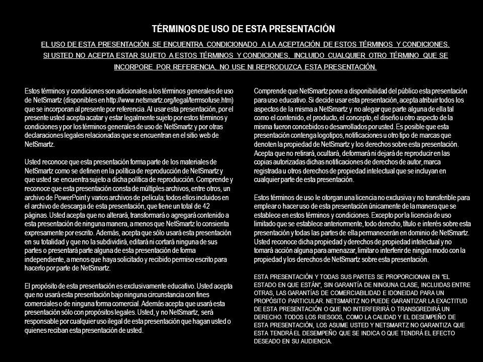 TÉRMINOS DE USO DE ESTA PRESENTACIÓN