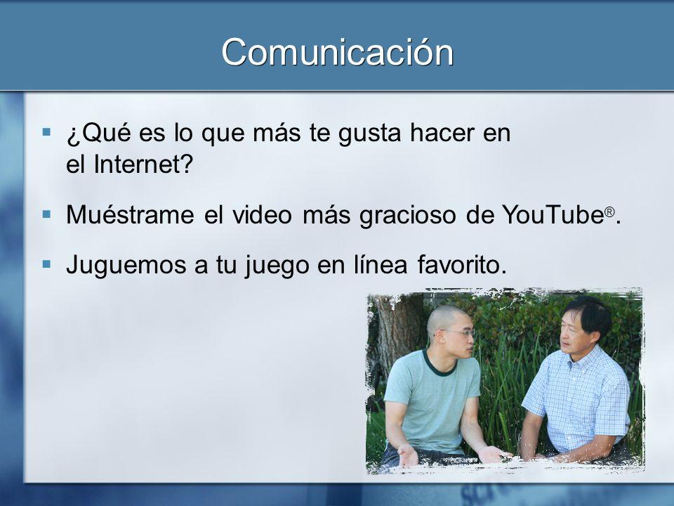 Comunicación ¿Qué es lo que más te gusta hacer en el Internet
