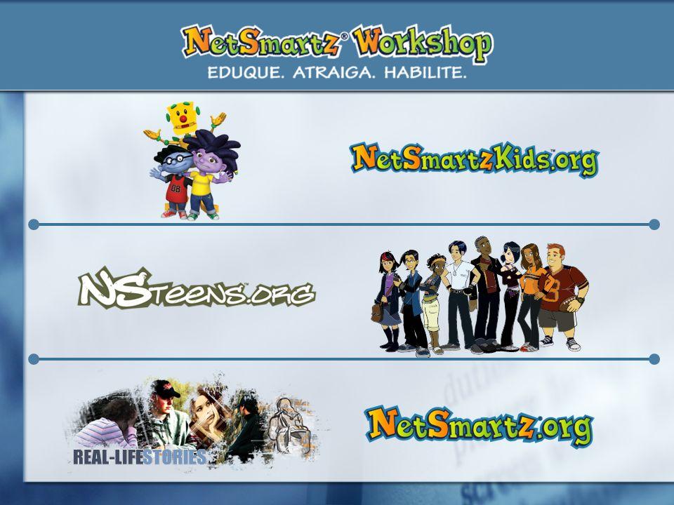 Clicky es perfecto para los niños más pequeños; ustedes pueden ayudarles a ingresar en NetSmartzKids.org donde pueden ver dibujos animados y participar en juegos. Pero NetSmartz ofrece recursos para todas las edades.