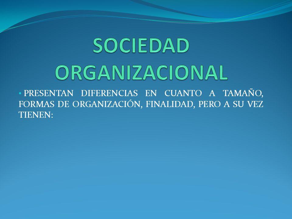SOCIEDAD ORGANIZACIONAL