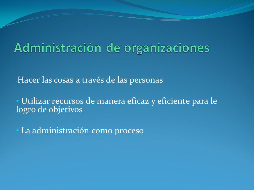 Administración de organizaciones