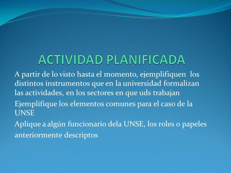 ACTIVIDAD PLANIFICADA
