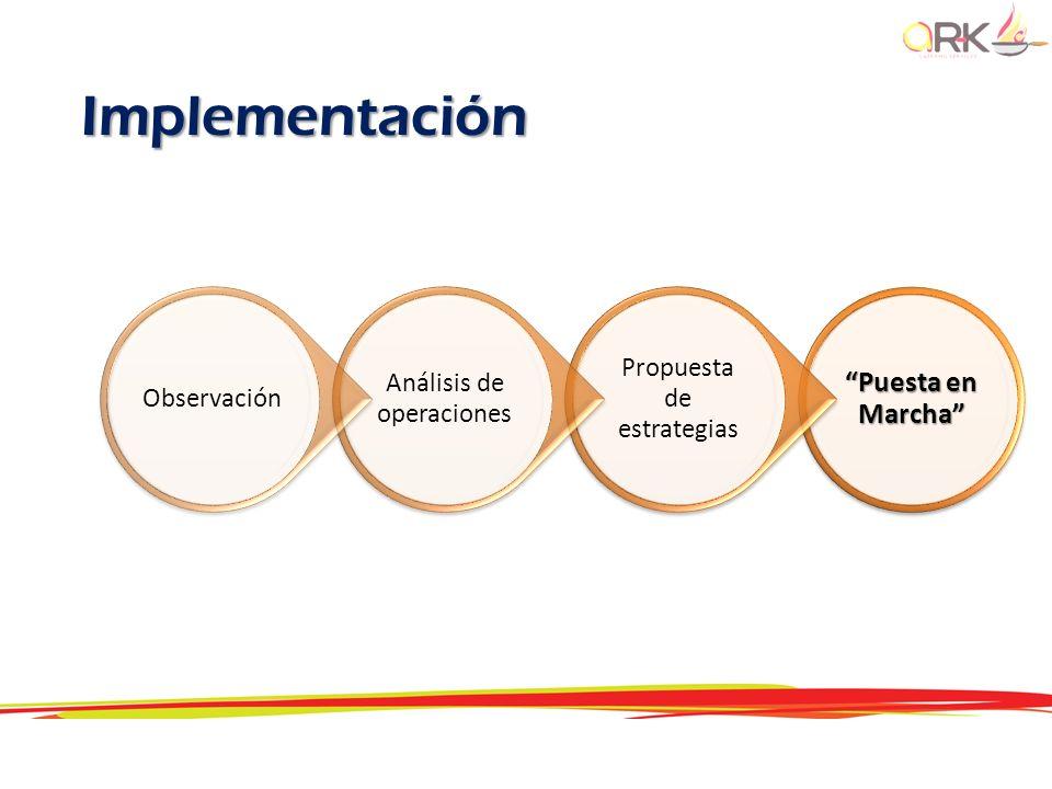 Implementación Puesta en Marcha Propuesta de estrategias