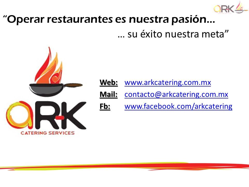Operar restaurantes es nuestra pasión… … su éxito nuestra meta