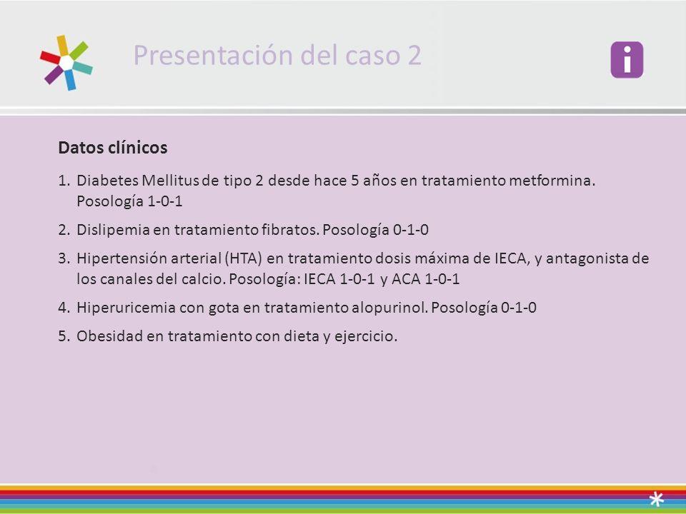Presentación del caso 2 Datos clínicos