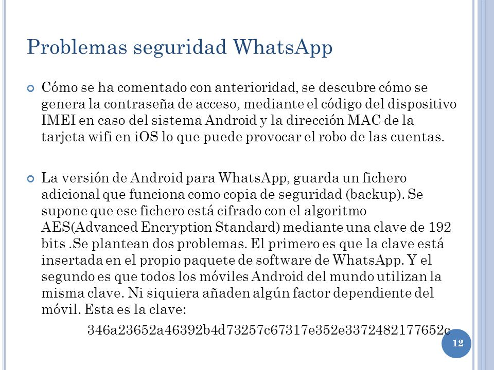 Problemas seguridad WhatsApp
