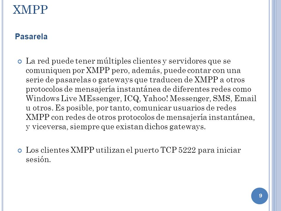 XMPPPasarela.