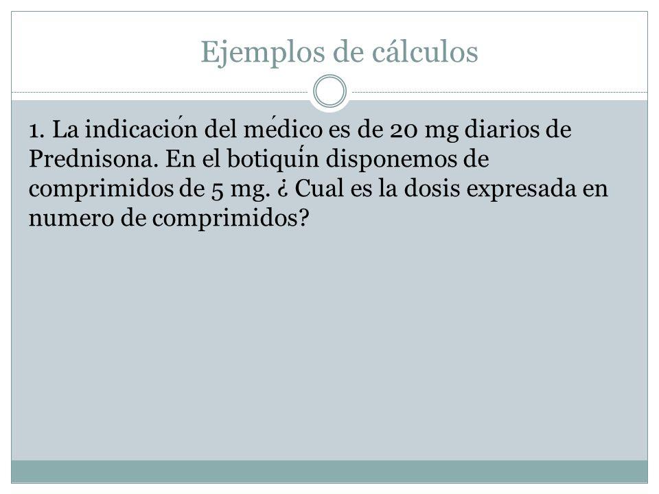 Ejemplos de cálculos