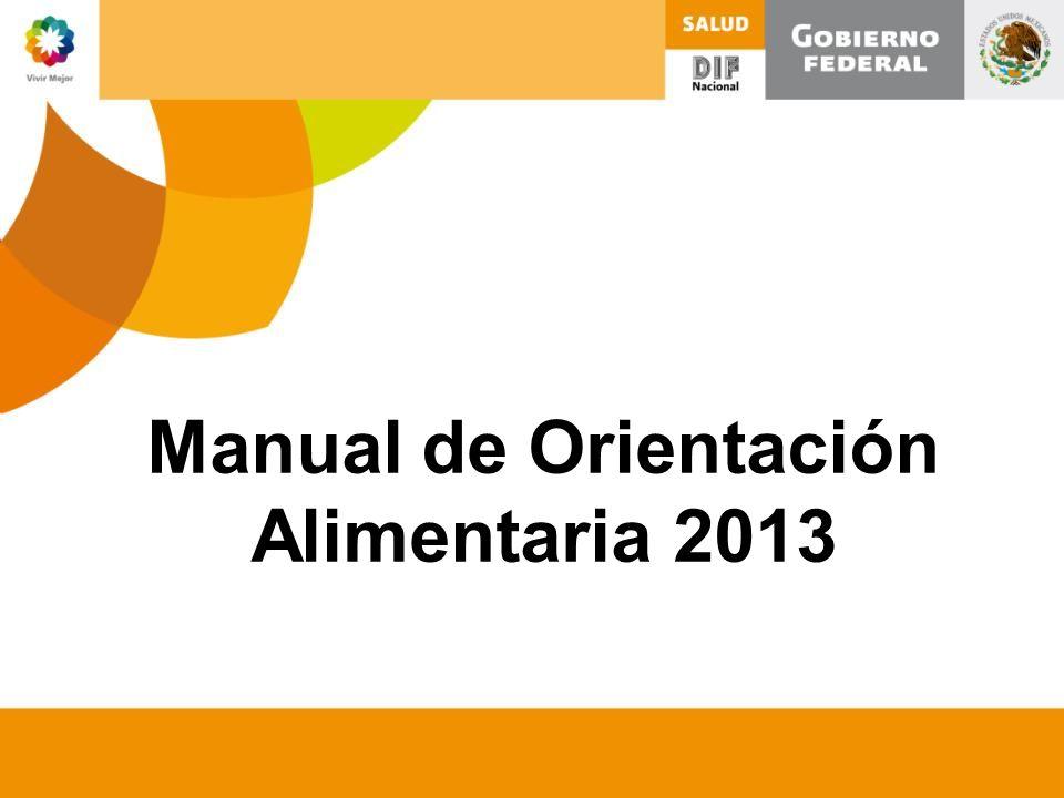 Manual de Orientación Alimentaria 2013