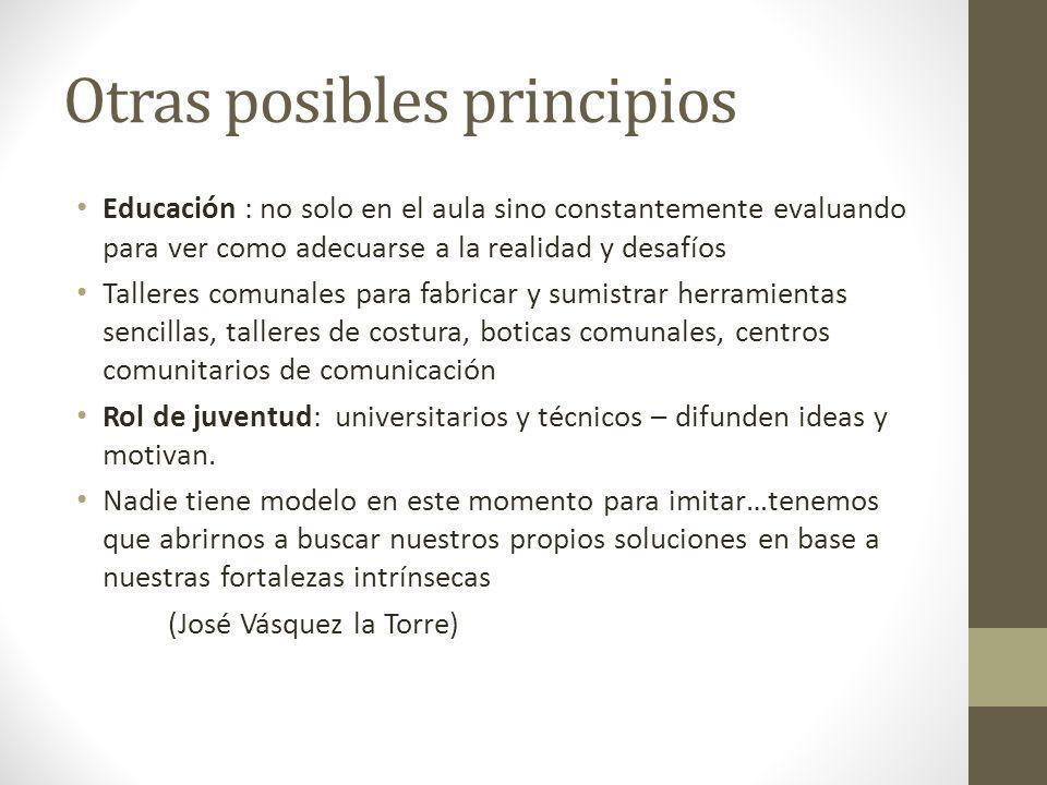 Otras posibles principios
