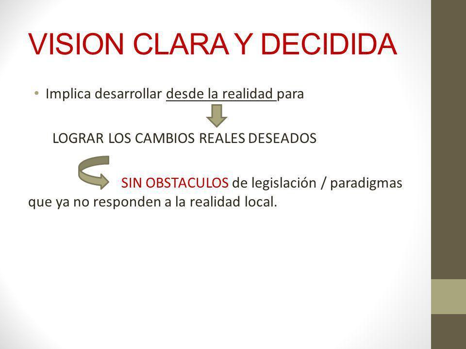 VISION CLARA Y DECIDIDA