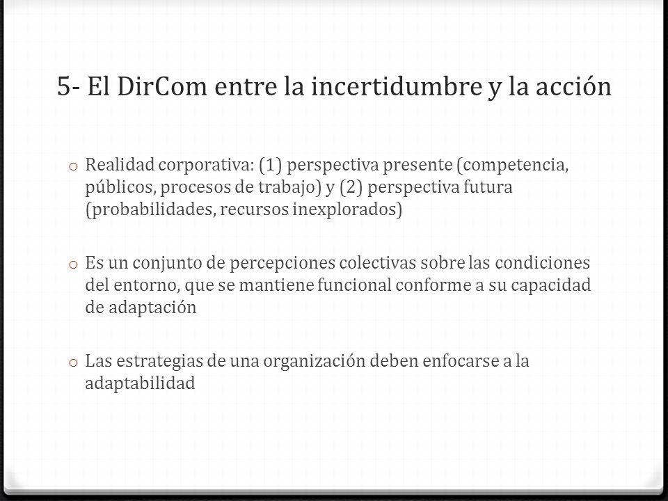 5- El DirCom entre la incertidumbre y la acción
