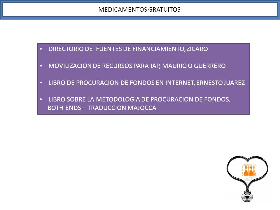 MEDICAMENTOS GRATUITOS